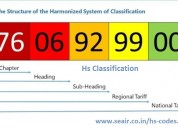 Buy organized hs classification code list