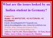 What are the issues looked by an indian student