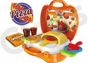 Pizza play set with brick oven pretend play set