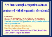 Are there enough occupations abroad contrasted