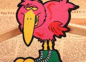 Long beak bird custom printed patches