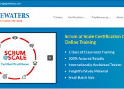 Online scrum at scale certification training cours