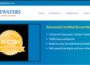 Online csm certification training courses in pune