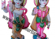 Marble radha krishna statue at best price in india