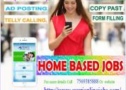 Home based online data entry jobs / home based sms