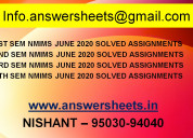 2020 june nmims assignments - explain and examine
