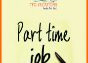 Part time jobs is getting offered by a tourism com