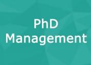 Phd management college in delhi/ncr