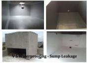 Sump tank waterproofing services |sump leakage wat