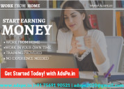Real home bases job, ad posting part time work