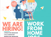 Online part time/full time jobs - earn daily i