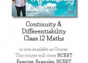 Continuity and differentiability class 12 maths
