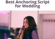Best anchoring script for wedding | wedding anchor