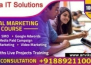Digital marketing course with job 100% only 10 sea