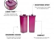 Tupperware fridge bottle pitcher slim line 2l 2pc