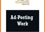 Huge earning with online marketing home based job