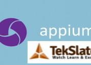 Appium online training & free demo at tekslate