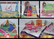 Beautiful wedding gifts and sarees packing we do..