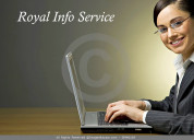 Royal info service offered part time job