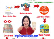 Online jobs,part time jobs,home based jobs