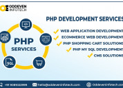 Best php web development services in india