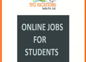 For fresher and students part time jobs, home ba.
