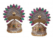 Buy dual tone dangles earrings for women at foxiie