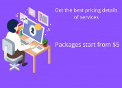 Get the best pricing details of services