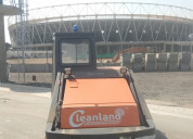 Ride-on diesel operated sweeping machine