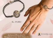 Jai guru ji bracelet on mangalsutra chain with dia