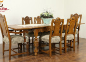 Wooden dining table designs with different categor