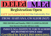 Admission in b.ed and jbt from haryana / mp(gwalio