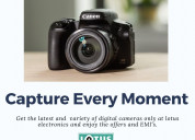 Buy cameras online of your choice at lotus electro