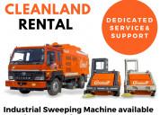 Big on saving sweeping machine with operator