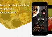 How much does it cost to food delivery app?