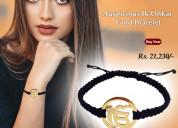 Auspicious ik onkar gold bracelet