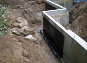 Retaining wall waterproofing