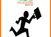Immediate requirement candidate for online tourism
