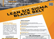 Become a certified in learn six sigma black belt