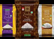 Basmati rice manufacturers in india | zeeba