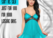 Get 4 piece night dress for women in india