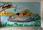School wall painting for kids in hyderabad