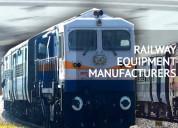 Best railway equipment manufacturers in india