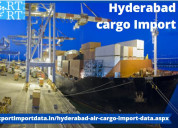 Genuine report on hyderabad air cargo import data