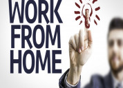 We are providing work from home work.
