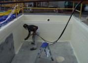 Epoxy coating for concrete water tanks