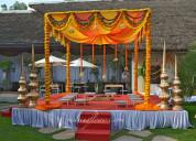 Outdoor wedding decoration, wedding decorations, f