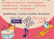 Website for wedding band service at rs.9999/-