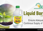Highly mobile and available liquid boron fertilize