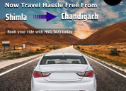 Cab for shimla to chandigarh